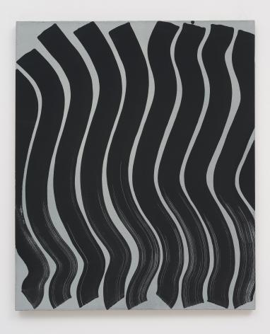 Michael Dopp Untitled (Strokes, Black on Grey), 2013