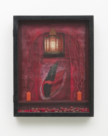 Betye Saar, Red Vision at the Villa, 1994