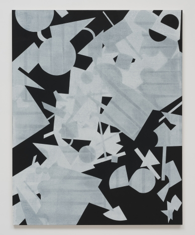 Michael Dopp Untitled (Black Shape Painting 3), 2013