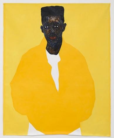 Amoako Boafo, Jordan Mbuyamba, 2020, Oil on Canvas