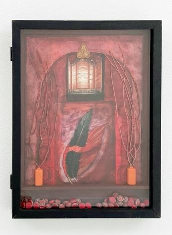 Betye Saar, Red Vision at the Villa, 1994