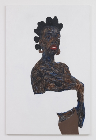Amoako Boafo, Soleita, 2019, Oil on canvas