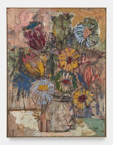 Daniel Crews-Chubb, Flowers (yellow, pink, green), 2020