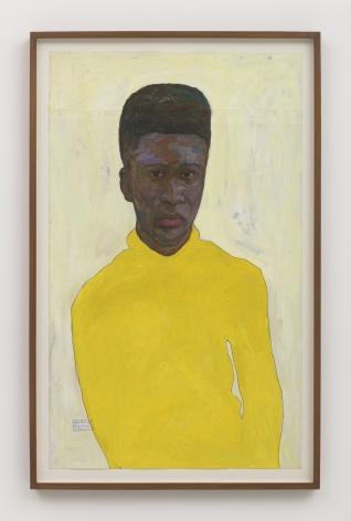 Amoako Boafo Yellow Turtleneck, 2018