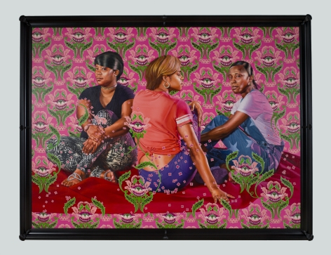 Kehinde Wiley Three Girls in a Wood, 2018