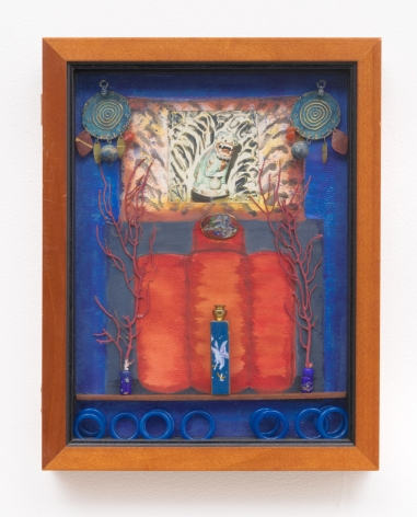 Betye Saar, Blue Vision at the Villa, 1994