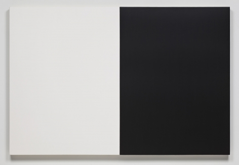 James Hayward Automatic Painting 47 x 70 Black/White, 1978 - 1979