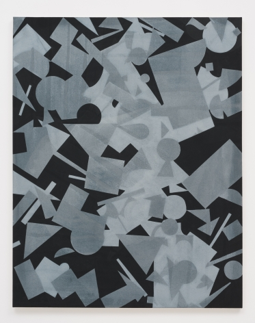 Michael Dopp Untitled (Black Shape Painting 1), 2013