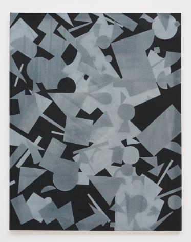 Michael Dopp Untitled (Black Shape Painting 1), 2013