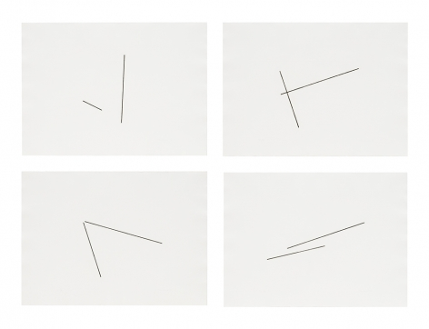 Four Variations of Two Diagonal Lines, 1976