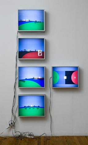 Untitled, 2000 set of fivetransparencies in Duratron lightboxes