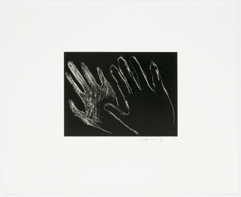 Untitled (Hands), 1990-91, drypoint with aquatint