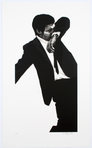 Mark, 1982-83 two color lithograph with embossing