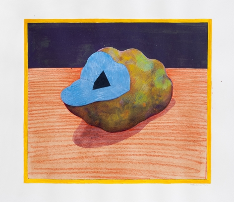 Untitled, 1990 watercolor and colored pencil on paper