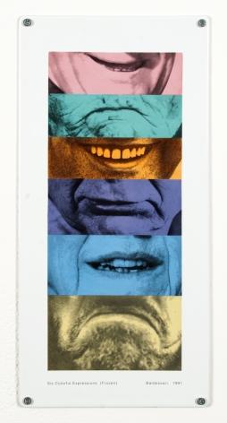 John Baldessari Six Colorful Expressions (Frozen)