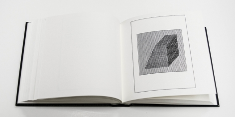 Ficciones, 1984 hardcover artist book with serigraphs by LeWitt and text by Jorge Luis Borges, translated into English;