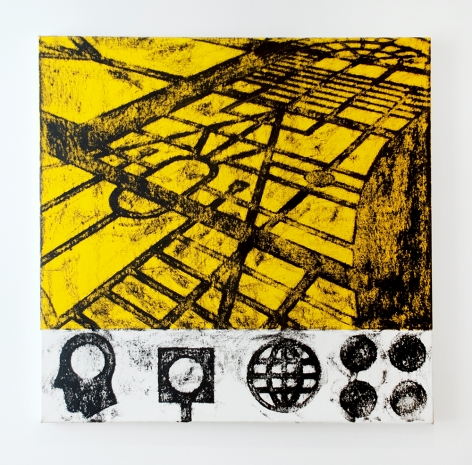 Untitled, 1990 oilstick and acrylic on canvas multiple