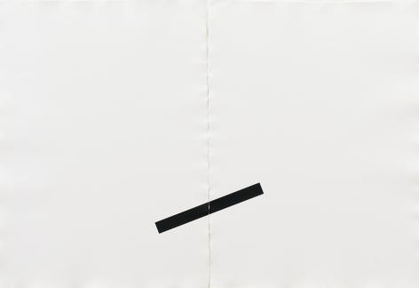 Print, 1976 screenprint printed in black on two sheets of handmade paper