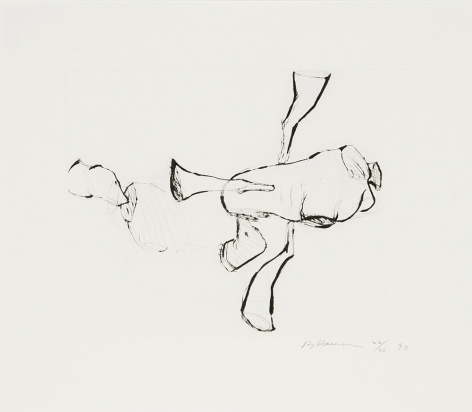 Untitled (C.67), 1989-90hard ground etching17 x 19 1/2 in. / 43.2 x 49.5 cmEdition of 45