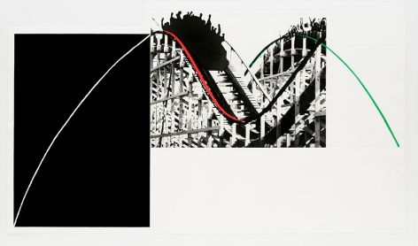 Rollercoaster, 1989-90   photogravure with color aquatint