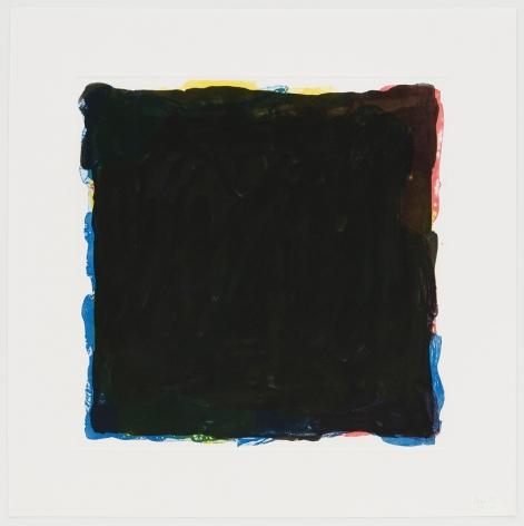 Red, Yellow, Blue & Black Irregular Squares Superimposed, 1994