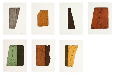 Fragment I-VII, 1997suite of seven two-color lithographs24 x 18 in. / 61 x 45.7 cm eachEdition of 25