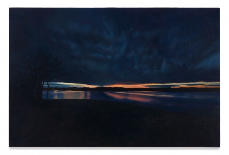 Blue Horizon, 2020, Oil on canvas, 24 x 32 inches, 61 x 81.3 cm