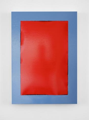 Peel (Red-Blue), Angela de la Cruz