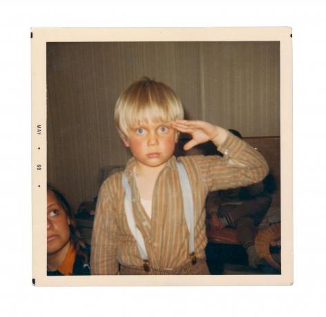 Konstnären som ung (ur familjealbum), Peter Johansson