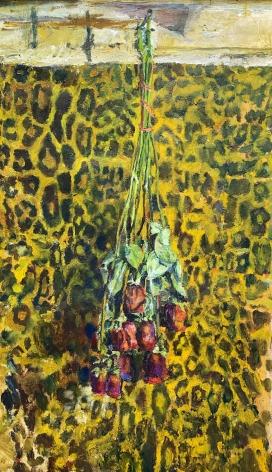 Jesse Edwards A Dozen Roses with Leopard Print, 2019