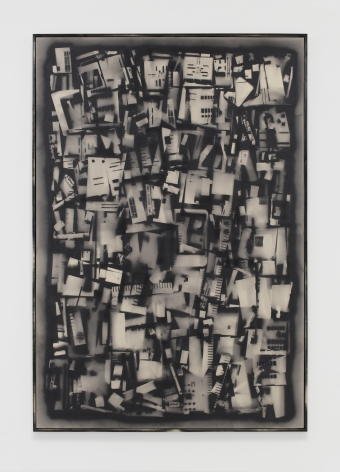 Phil Wagner, Untitled, 2019 spray paint on canvas [artist framed]  116 x 80 x 1.63 inches  (294.64 x 203.2 x 4.14 cm) #PW008