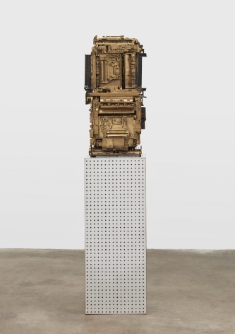 Phil Wagner, Untitled, 2019 mixed media sculpture 34 x 16 x 16 inches 86.36 x 40.64 x 40.64 cm #PW003