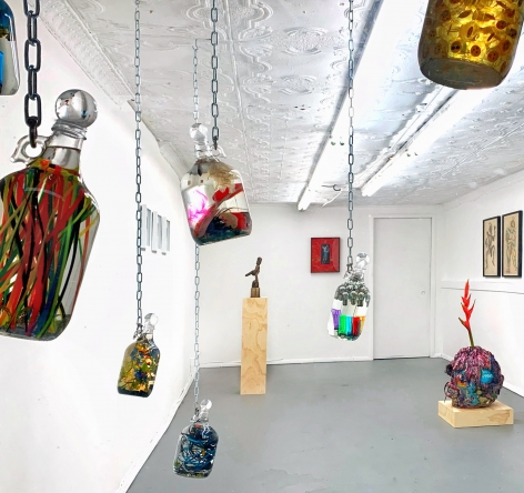 Installation photo from Unsympathetic Magic exhibition, NYC 2020