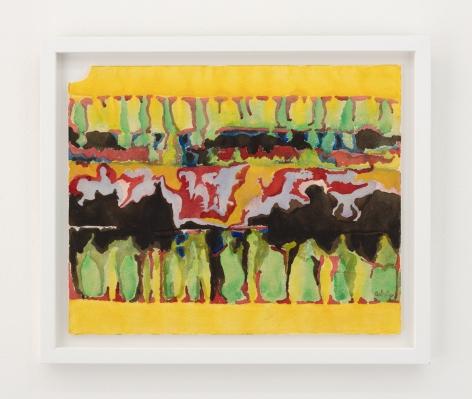 Sara Kathryn Arledge Untitled (Yellow, Red, Black)