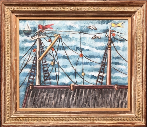 Frame of Masts by Irene Rice Pereira.