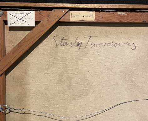 Verso signature on painting #4 by Stanley Twardowicz.