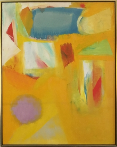 Frame view of Untitled 1963 abstract oil by John Grillo.