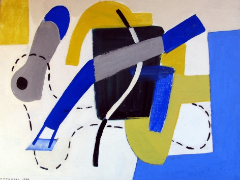 1938 untitled abstraction by Vaclav Vytlacil.