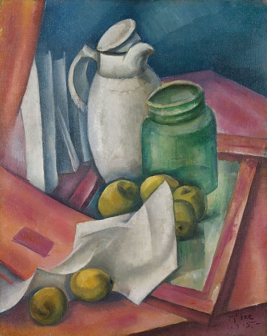 """Oil painting by Henry Lee McFee entitled """"The White Pitcher""""."""
