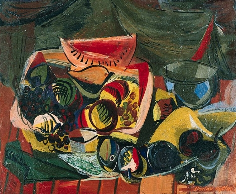 Vaclav Vytlail sold archive still life with melons.