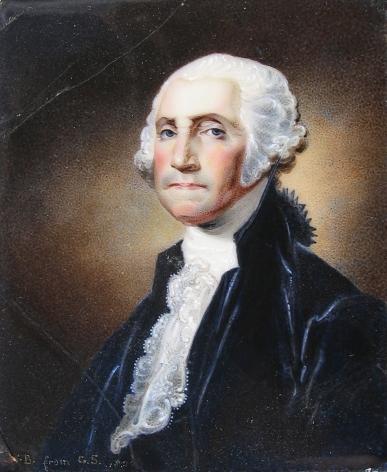 Miniature portrait of George Washington by artist William Birch.