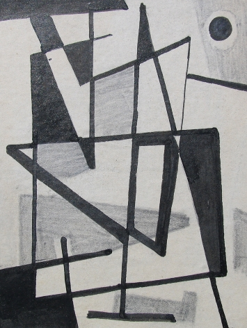 Vaclav Vytlacil untitled abstract black and white painting 002.