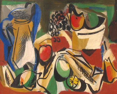 Vaclav Vytlacil 1942 sold archive still life with fruit.