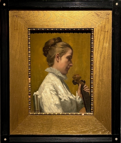 """Frame of """"A Musician"""" by Frederick E. Wright."""