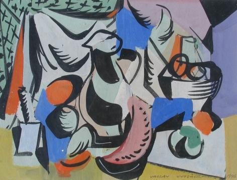 """Vaclav Vytlacil 1946 painting entitled """"Still Life II""""."""