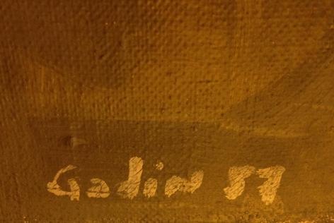 """Signature on """"50F"""" by Raymond Godin."""