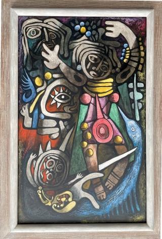 "Frame on ""Ceremonial Dancers"" by Julio De Diego."