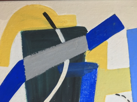 Detail of 1938 Untitled Abstraction by Vaclav Vytlacil.