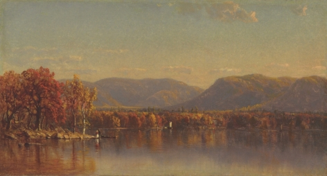 """Sanford Gifford sold oil painting """"Lake Sunapee, New Hampshire""""."""