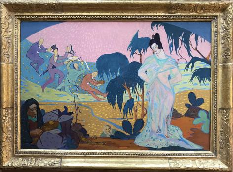 "Frame on ""Homage to Mabel Dodge"" by Walter Mruk."